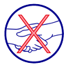 Saluez sans se serrez la main.